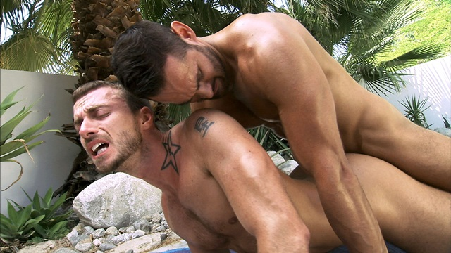 Dick rambone dildo in guys ass