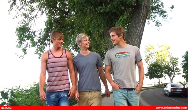 trio Mick Lovell Dolph Lambert Alex Waters in threesome 001 Young Naked Boy Twink Strips Naked and Strokes His Big Hard Cock for at belami photo Belami: Mick Lovell threesome with Dolph Lambert and Alex Waters