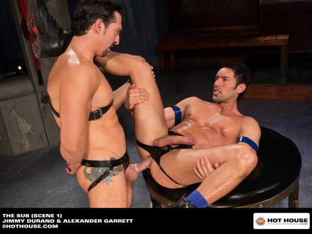 Muscle-hunk-sub-Alexander-Garrett-ass-fucked-Jimmy-Durano-huge-dick-Hothouse-08-photo