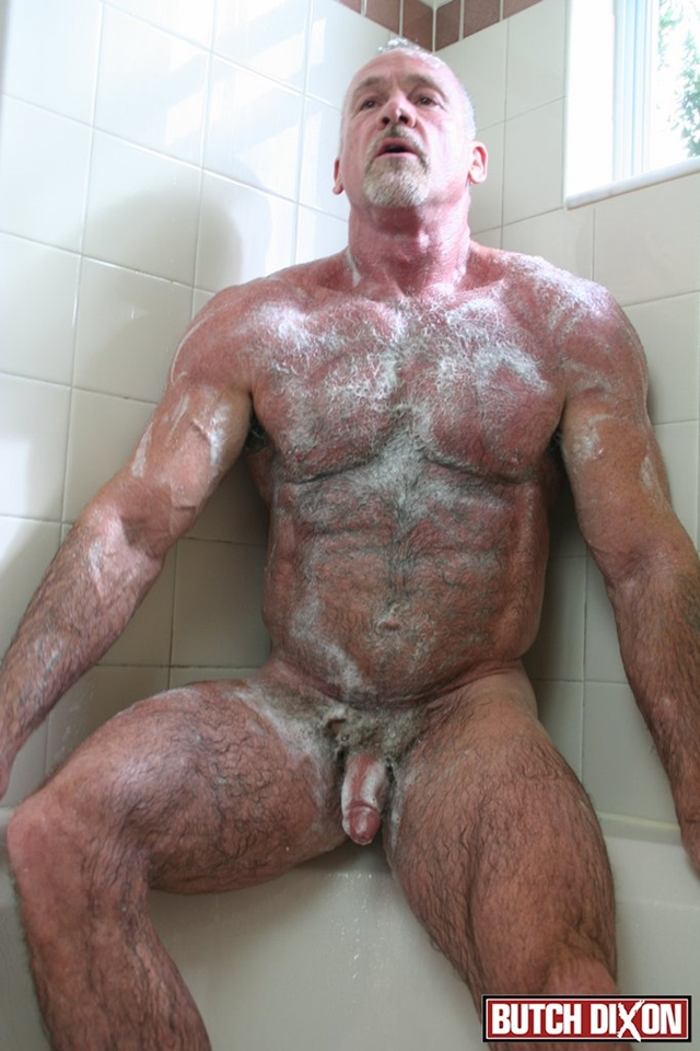 Butch-Dixon-silver-haired-hunk-older-mature-stud-Mickie-Collins-flexes-muscles-rubs-furry-tanned-skin-008-male-tube-red-tube-gallery-photo
