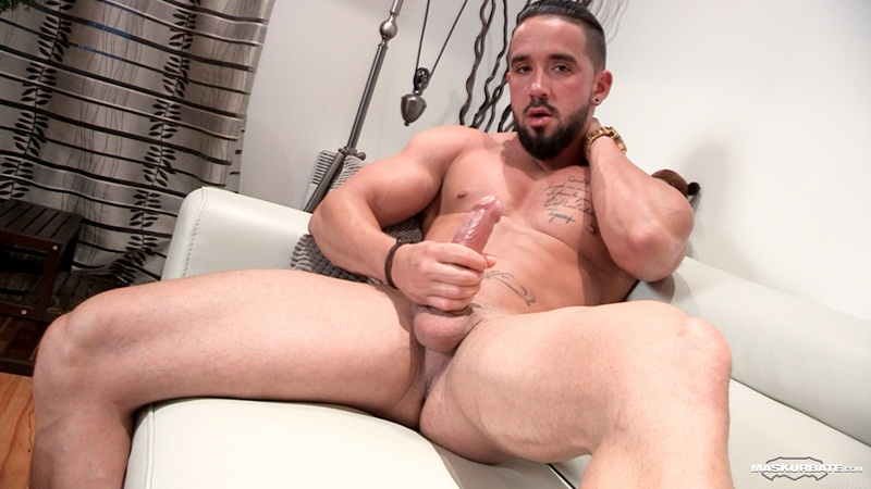Nasty Stud In Leather Jacket Jerking Off