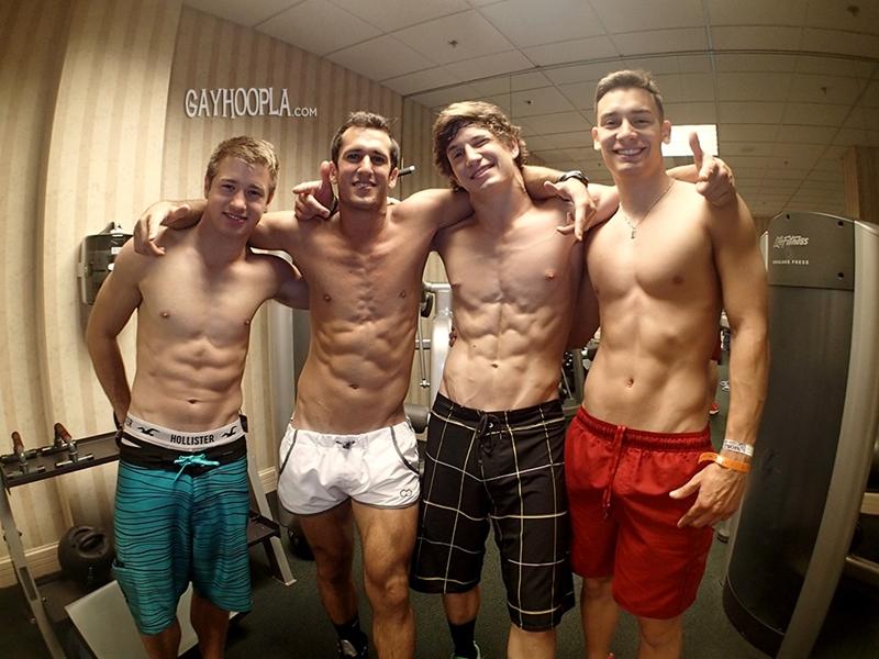 Hunter Gage, Brad Spear, Seth Rose and Thomas Diaz