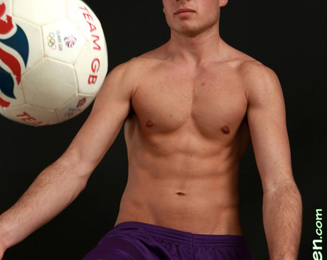 Nude young Sportmen stripped of their kit