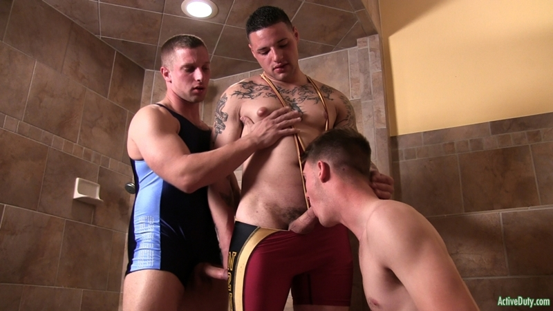 active duty Cruz, Jaxon and Niko hot fucking threesome