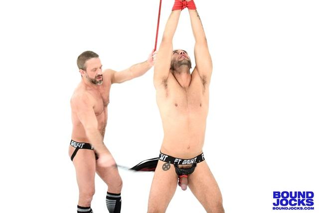 bound jocks Dirk Caber and Leo Forte
