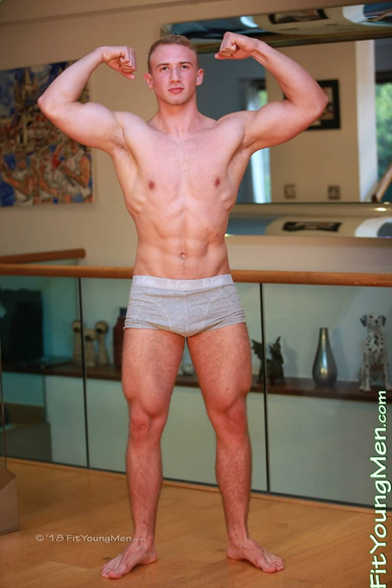 Hairy Legs And Ripped Young Muscle Boy David Kolar Strips -2614