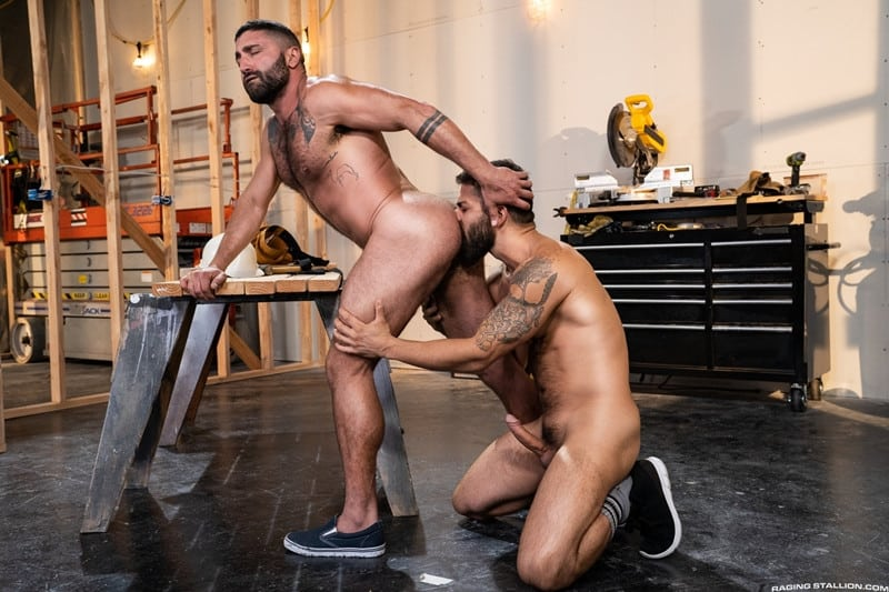 Men for Men Blog Gay-Porn-Pics-011-Adam-Ramzi-Sharok-Hairy-muscle-hunk-anal-fuck-huge-raw-cock-deep-ass-crack-RagingStallion Hairy muscle hunk Adam Ramzi slides his huge raw cock deep into Sharok's ass crack Raging Stallion