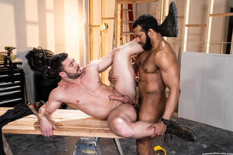 Men for Men Blog Gay-Porn-Pics-013-Derek-Bolt-Jay-Landford-naked-muscle-men-huge-cock-fucking-hot-asshole-RagingStallion Derek Bolt moans with each thrust from Jay Landford's huge cock pummeling his hot asshole Raging Stallion